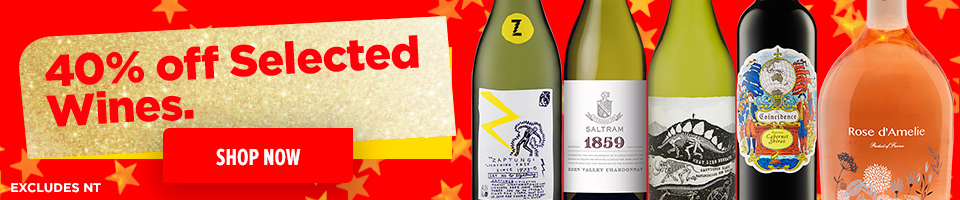40% Off Selected Wines