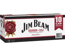 Jim Beam White & Cola Can (10 Pack)