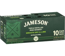 Jameson Smooth Dry & Lime Can 375mL (10 pack)