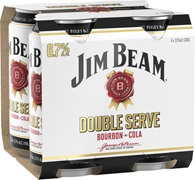 Jim Beam Double Serve Can 375mL