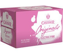 Vodka Cruiser Originals Electric Pink Bottle 275mL