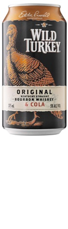 Wild Turkey Bourbon & Cola 10+2 Bonus Pack 375ml