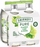 Smirnoff Pure Classic Lime & Soda 300mL