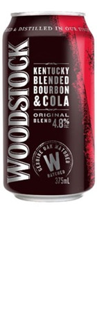 Woodstock Bourbon & Cola Can 375mL (4 Pack)