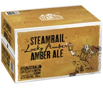 Steamrail Amber Ale Bottle 330mL