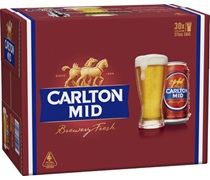 Carlton Mid Block Can 375mL