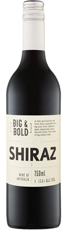 Cleanskin Big & Bold SEA Shiraz 750mL