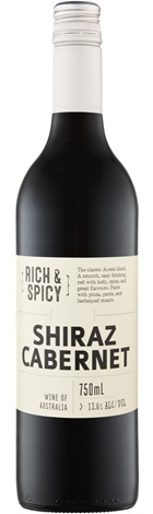 Cleanskin Rich & Spicy SEA Shiraz Cabernet 750mL
