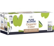Pure Blonde Cider Can 375mL (10 Pack)