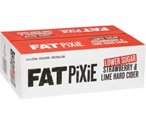 Fat Pixie Low Sugar Strawberry & Lime Cider Can 375mL