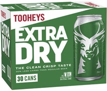 Tooheys Extra Dry Block Can 375mL