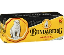 Bundaberg UP & Cola Can 375mL (10 Pack)
