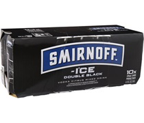 Smirnoff Ice Double Black (10 Pack) Can 375mL