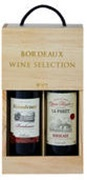 Bordeaux Chateau Selection Wooden Gift Box 2x750mL